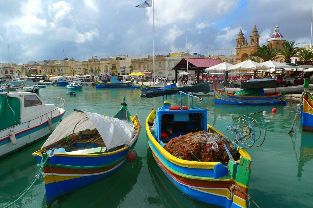 Fishing boats of Malta