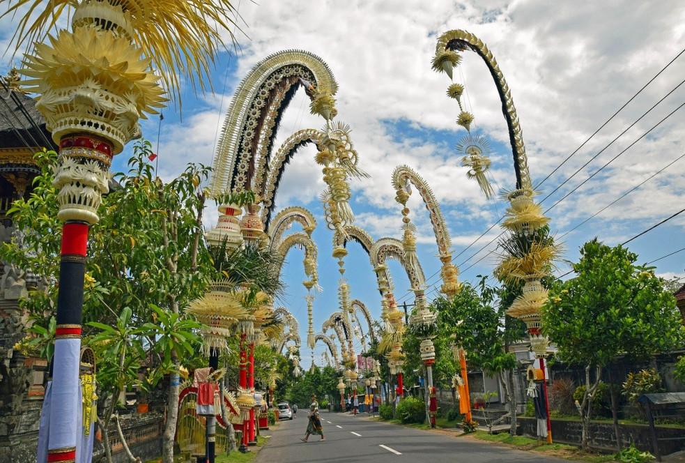 Galungan in Bali - Penjor