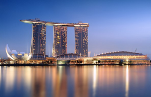 24 hrs in Singapore Marina bay Sands at night