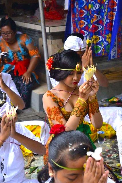 Prayer before Hindu Ceremony