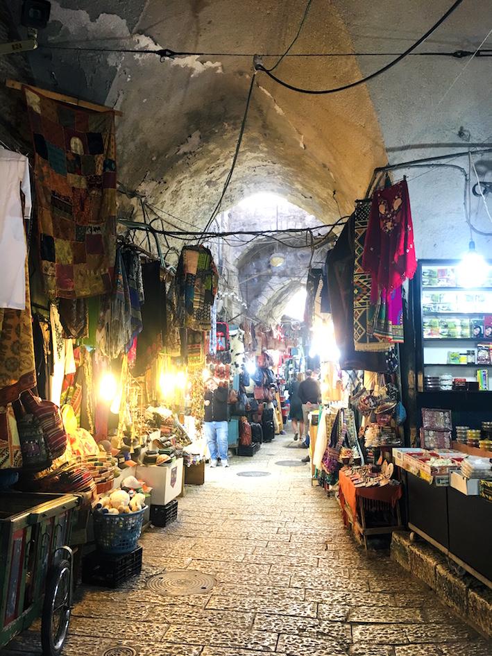 The souk in the Arab Quarters Jerusalem