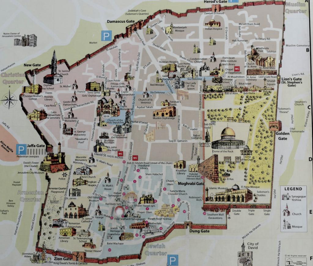 Map of Old Jerusalem