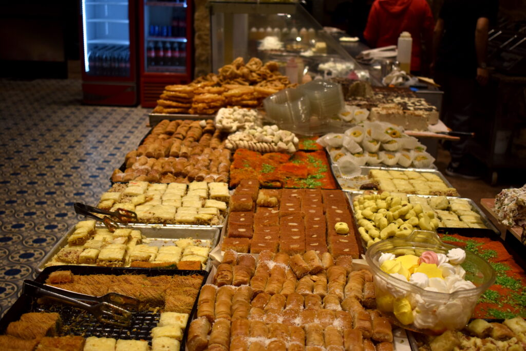 Typical sweets in the Arab Quarters of Jerusalem